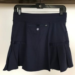 Athleta Shorts - Athleta Navy Pleated Any Sport Skort - Small 4/6